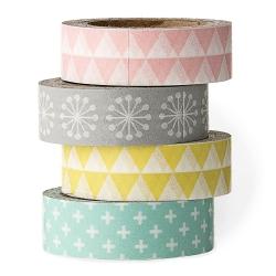 set de 4 Masking Tape Pastels