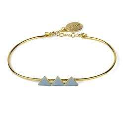 Bracelet Triangles Gris Bleu
