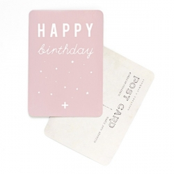Carte Happy Birthday - Rose