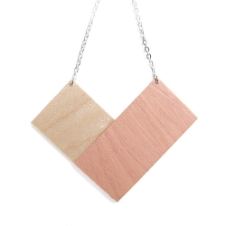 Collier Square Rose - Snug