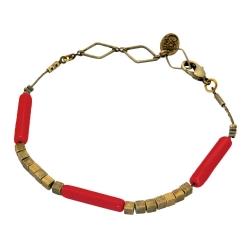 Bracelet Tonka - Coquelicot