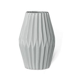 Vase Origami Oblong Gris