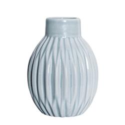 Petit Vase Boule Bleuté