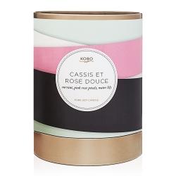 Bougie Cassis et Rose Douce