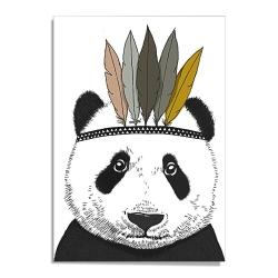 Affiche A3 Panda Sioux