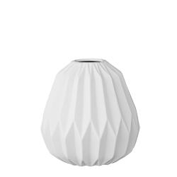 Mini Vase Boule Origami Blanc