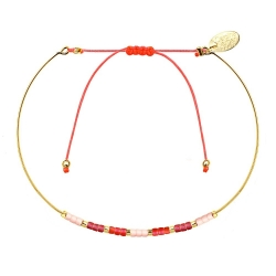 Bracelet Jonc Alexandra - Framboise