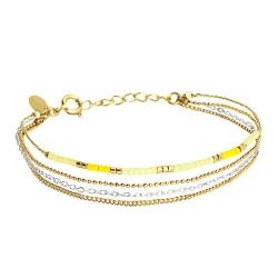 Bracelet Alexandra 4 rangs - Mimosa
