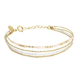 Bracelet Alexandra 4 rangs - Champagne