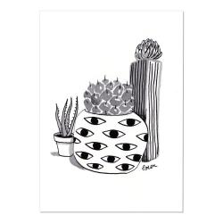 Carte Postale Cactus Eyes