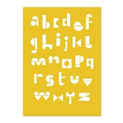 Carte Postale Abécédaire - Moutarde