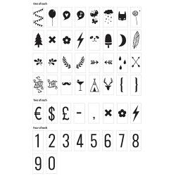 Nombres et Symbols pour Lightbox