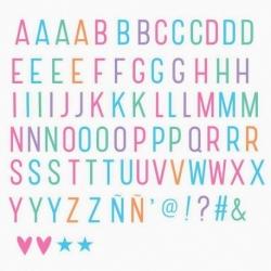 Lettres et Symbols Pastel pour Lightbox