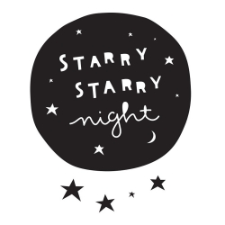 Sticker Starry Night