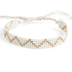 Bracelet Miyuki - n°5 Blanc