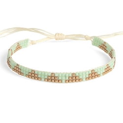 Bracelet Miyuki - n°3 Mint
