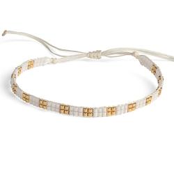 Bracelet Miyuki - n°2 Blanc