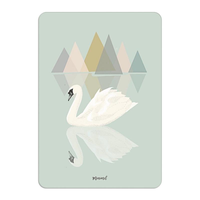 carte postale le lac des cygnes format a6 ou a5 illustr par minimel. Black Bedroom Furniture Sets. Home Design Ideas