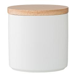 Pot en Porcelaine et Couvercle en Bois