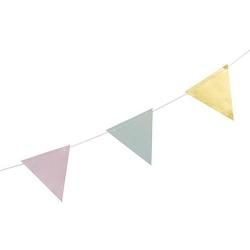 Guirlande de Fanions Pastel & Or