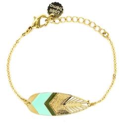 Bracelet Sunshade Doré - Turquoise