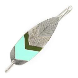Barrette Sunshade Argentée - Turquoise