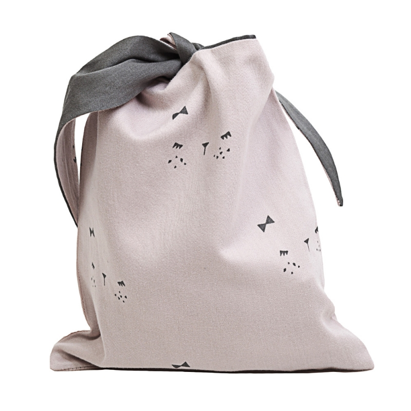 Pochette Lapin Rose - Lunchbag Bunny Fabelab - Les inutiles