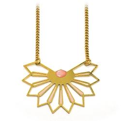 Sautoir Fleur D'ibiscus - Rose Saumon - Marie Duvert