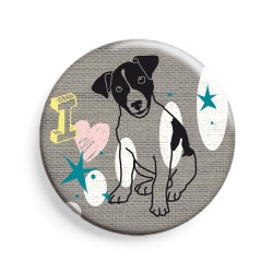 Badge Chien - Mimi'lou