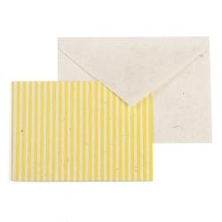 Mini carte Népalaise rayée jaune