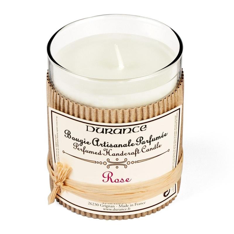 Bougie parfumée à la Rose - Durance - Boutique Les inutiles
