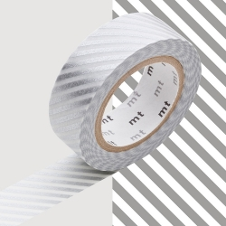 Masking tape à Rayures Argent