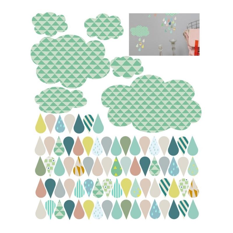 Stickers Pluie - Mimi'lou - Boutique Les inutiles