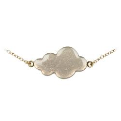 Bracelet Nuage Gris et Or - Bijoux Emmanuelle Biennassis - Boutique Les inutiles