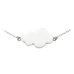 Bracelet Nuage Blanc et Argent - Bijoux Emmanuelle Biennassis - Boutique Les inutiles