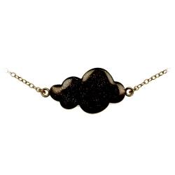 Bracelet Nuage Noir et Laiton Bronze - Bijoux Emmanuelle Biennassis - Boutique Les inutiles