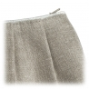 Trousse zippée en lin - Pochette A.U. Maison - Boutique Les inutiles