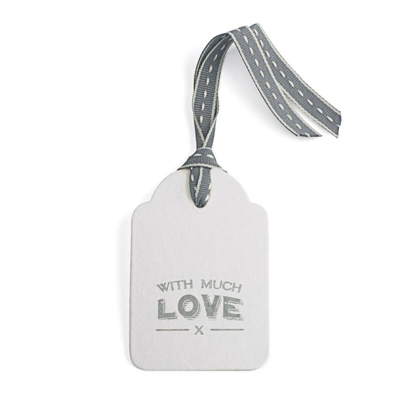 Etiquette Cadeau With Much Love - Boutique Les inutiles