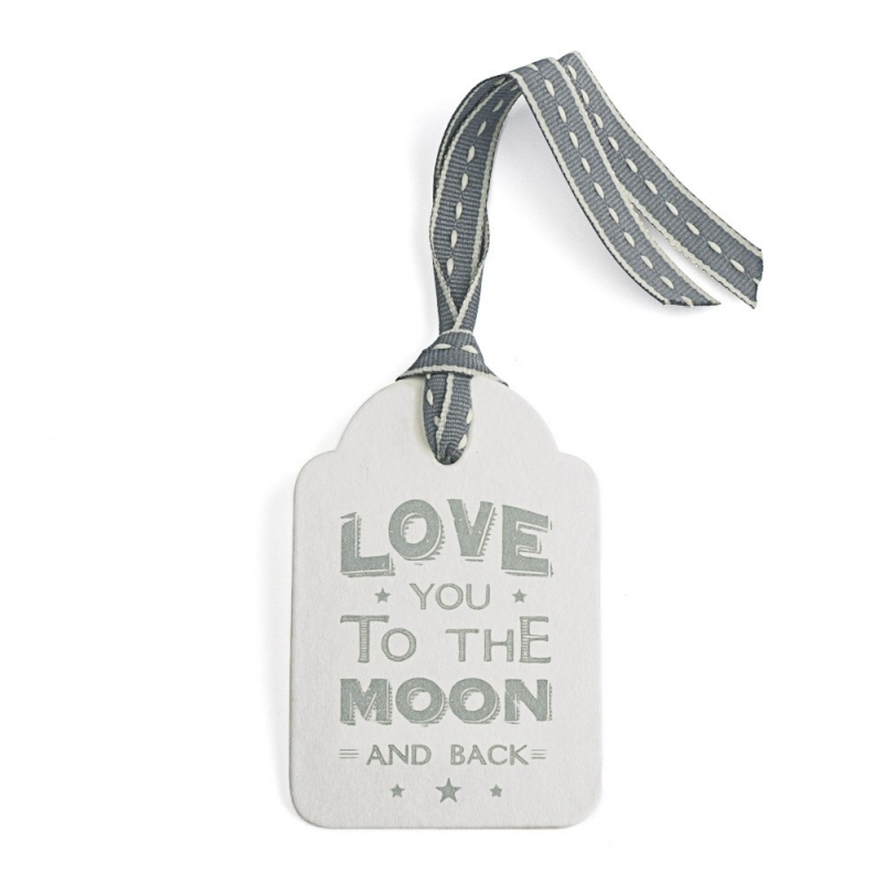 Etiquette Cadeau Love you to the Moon - Boutique Les inutiles