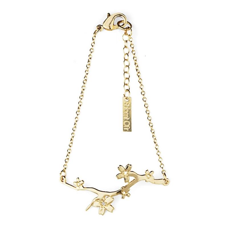 Bracelet Cerisier doré - Shlomit Ofir - Boutique Les inutiles