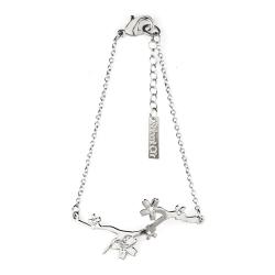 Bracelet branche - bijoux fleurs de cerisier argent - créatrice Shlomit Ofir - Boutique Les inutiles