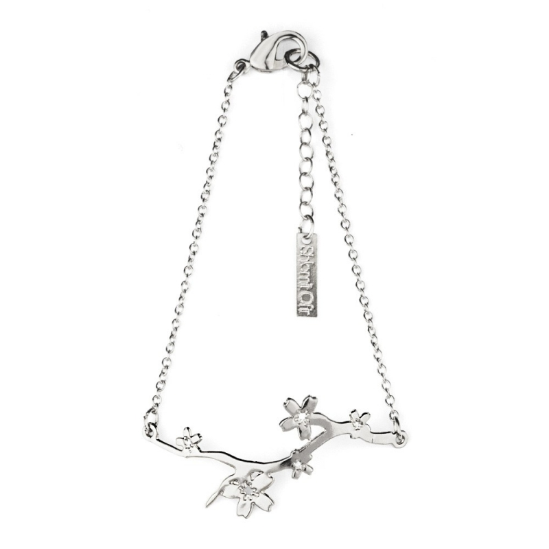 Bracelet Cerisier argenté - Shlomit Ofir - Boutique Les inutiles