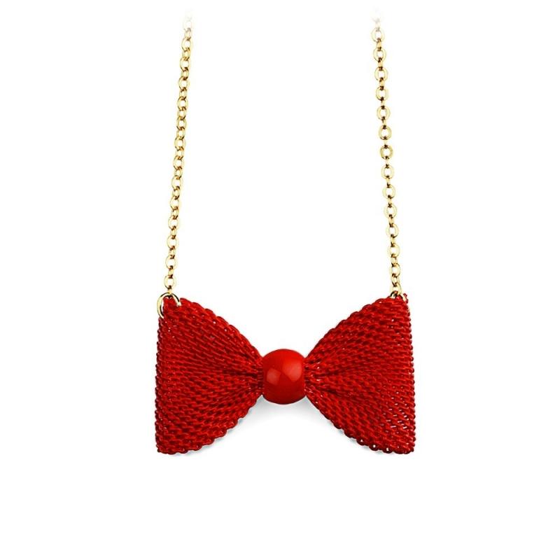 Collier Nœud Rouge - Boutique Les inutiles