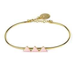 Bracelet Triangles Rose Pâle