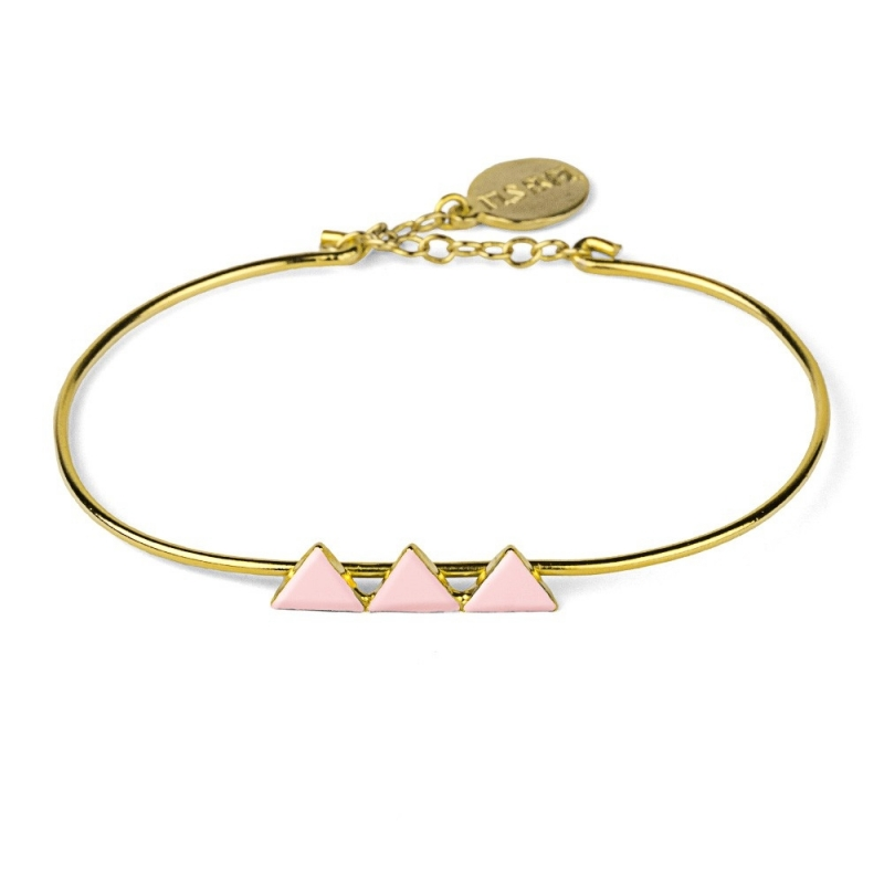 Bracelet Triangles Rose Pâle - Nils Avril - Boutique Les inutiles
