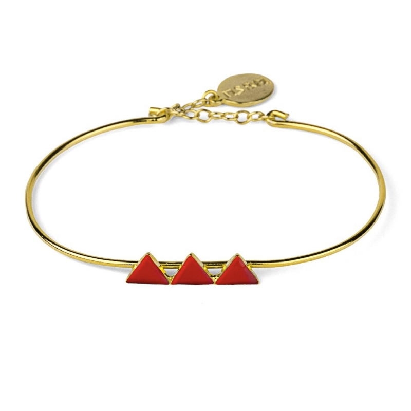 Bracelet Triangles Rouge - Nils Avril - Boutique Les inutiles