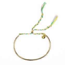 Bracelet Tressé - Or & Mimosa