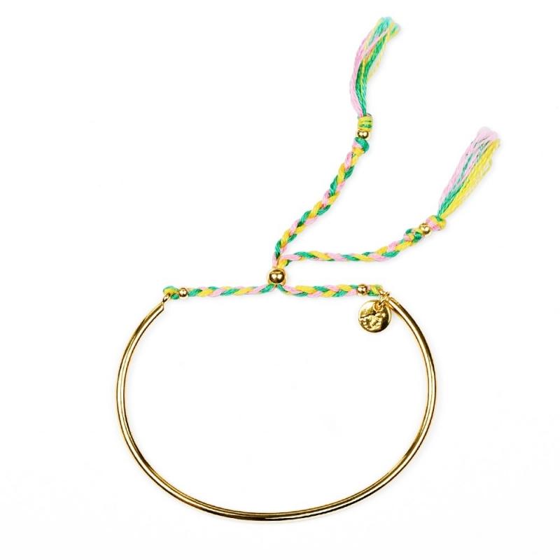 Bracelet Tressé - Or & Mimosa - Boutique Les inutiles