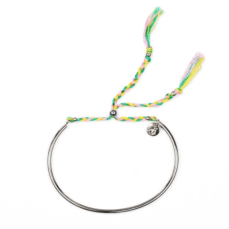 Bracelet Tressé - Argent & Mimosa - Boutique Les inutiles