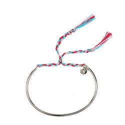 Bracelet Tressé - Argent & Cerise